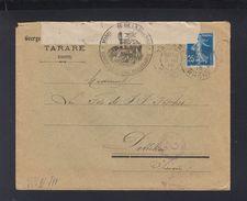 Lettre 1915 Controle Postal Bellegarde - Poststempel (Briefe)