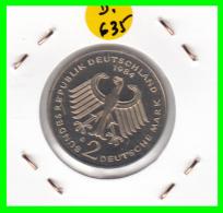 ALEMANIA - GERMANY  MONEDA DE 2.00 DM  AÑO 1984-G  KONRAD ADENAUER CALIDAD PROOF S/C - [ 7] 1949-… : RFA - Rep. Fed. Alemana