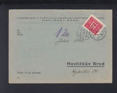 Czechoslovakia PK 1946 Havlickuv Brod - Czechoslovakia