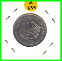 ALEMANIA - GERMANY  MONEDA DE 2.00 DM  AÑO 1987-D  KONRAD ADENAUER CALIDAD PROOF S/C - [ 7] 1949-… : RFA - Rep. Fed. Alemana
