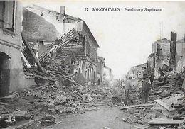 CPA (82) MONTAUBAN. Inondations Du Midi (1930). Faubourg Sapiacou, Animé. ..I 207 - Montauban