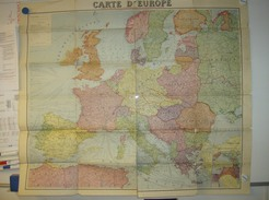 Kaart Carte Map - Europe Europa - Editions Taride Paris - Geographical Maps
