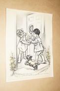 Germaine Bouret,superbe Ancienne Gravure,23,5 Cm. Sur 17,5 Cm. - Engravings