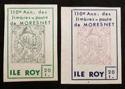 TIMBRES VIGNETTES De L'ILE ROY Anniversaire De La Poste Locale De Moresnet N°272 à 273 N** (Cyn23) - Variétés Et Curiosités