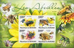 Burundi MNH Bees Imperforated Sheetlet - Honeybees