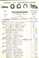 FA 889 /FACTURE- FORGE ET MARECHALERI FALIBARO  A CULAN  1903 (CHER) - Agriculture