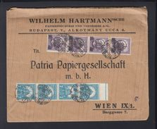 Hungary Cover Stripes Of 4 To Vienna - Ungarn