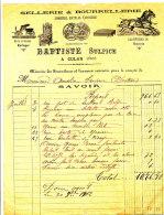 FA 892 /FACTURE- SELLERIE & BOURRELLERIE  BAPTISTE  SULPICE  1902 A CULAN  (CHER) - Agriculture