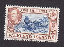 Falkland Islands, Scott #94, Used, George VI And Sea Lions, Issued 1938 - Falkland