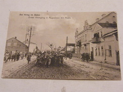 Carte Postale Russie Erster Kirchgang In Augustowo Mit Musik 1915 - Russie