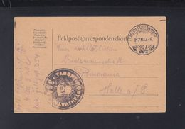 Hungary Field Post Card 1917 To Germany - Ungarn
