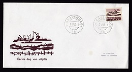 Netherlands: FDC First Day Cover, 1963, 1 Stamp, Harbour, Crane (minor Damage: Small Stain) - 1949-1980 (Juliana)