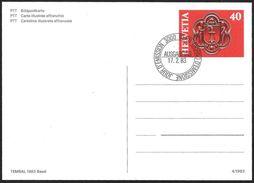 Svizzera/Suisse/Switzerland: FDC, Intero, Stationery, Entier, Stemma, Armoiries, Coat Of Arms - Buste