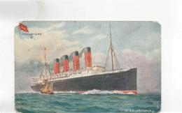 Postcard - Cunard Line - Q.T.S.S. Lusitania - Tuck Card No.9268 - Used But Never Posted Very Good - Cartes Postales