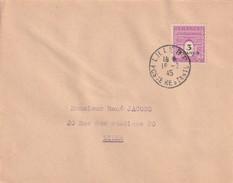 France Seul Sur Lettre Numéro 711, Pas De Cachet D'arrivée Rrr - Marcophilie (Lettres)