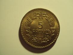 5 F LAVRILLIER EN BRONZE ANNEE 1938 SUP MIS EN VENTE 30 EUR AU LIEU DE 70 - France