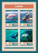 NIGER 2017 - Dolphins. Official Issue - Dolfijnen
