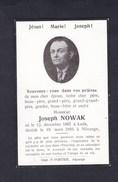 Genealogie Image Souvenir Deces Prieres Joseph Nowak Né à Lodz Pologne  Décédé à Nilvange Imp. Portier - Décès