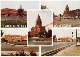 Sporthal - Marktplein - Kruispunt De Engel - St.-Michielskerk - Ichtegem - Ichtegem