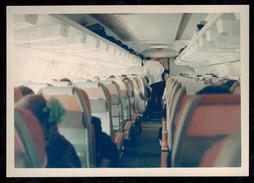 Photo 12 X 9 -  Intérieur Passager D'un Avion En 1967 --- Del166 - Aviazione