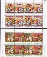 1992 San Marino Saint Marin MOSTRA MICOLOGICA, FUNGHI Dittico 4 Serie Di 4v. In Blocco MNH** MUSHROOMS - Funghi