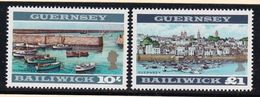 1969 Guernsey SERIE ORDINARIA 2v.: 17a/18a Dent.13¼ X 13 MNH**  DEFINITIVE  VIEWS - Guernesey