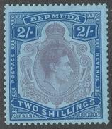 Bermuda. 1938-53 KGVI. 2/- MH. P 13 SG 116f - Bermuda