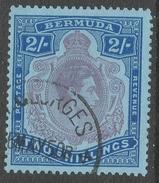 Bermuda. 1938-53 KGVI. 2/- Used. P 13 SG 116e - Bermuda