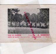 45- ORLEANS- RARE DEPLIANT ECOLE DU CHAUFFEUR DIRECTEUR A. SERREAU-HOTEL DE BLOIS-1 RUE GARE- CAMION ECOLE - Cars