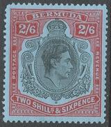 Bermuda. 1938-53 KGVI. 2/6 MH. P 13 SG 117d - Bermuda