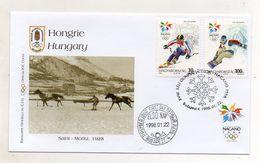 Ungheria - Busta FDC - Nagano 1998 - Con Annulli Filatelici - Edizione Bolaffi Torino (Italia) - (FDC6575) - Hiver 1998: Nagano