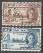 Bermuda. 1946 Victory. Used Complete Set. SG 123-4 - Bermuda