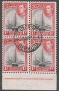 Bermuda. 1938-52 KGVI. 1d Used Block Of 4. SG 110 - Bermuda