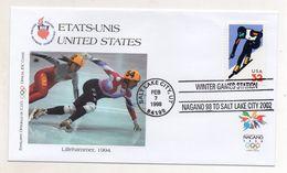 Stati Uniti - Busta FDC - Nagano 1998 - Con Annulli Filatelici - Edizione Bolaffi Torino (Italia) - (FDC6576) - Hiver 1998: Nagano