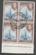 Bermuda. 1938-52 KGVI. 1½d Used Block Of 4. SG 111 - Bermuda