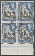 Bermuda. 1938-52 KGVI. 3d Used Block Of 4. SG 114a - Bermuda