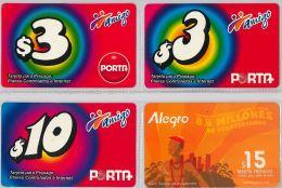 LOT 4 PREPAID PHONE CARD-  EQUADOR (E1.6.5 - Ecuador
