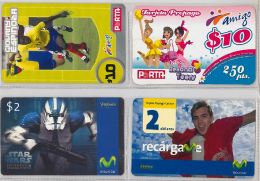 LOT 4 PREPAID PHONE CARD-  EQUADOR (E1.8.1 - Ecuador