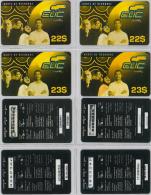 LOT 4 PREPAID PHONE CARD-  LIBANO (E2.8.5 - Lebanon