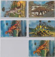 LOT 5 PHONE CARD- DINOSAURS -  LIBERIA (E2.17.1 - Liberia