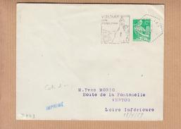 """DAGUIN  """" VOLNAY Son Panorama """"  Sur Lettre De VOLNAY Cote D'or Le 13 4 1959  Pour VERTOU Loire Inf - Poststempel (Briefe)"""