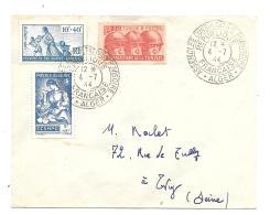 LETTRE....CACHET ASSEMBLEE CONSULTATIVE ..ALGER.4 .JUILLET 1944.. TBE ..N°207 Algerie /N°249 Tunisie./N°66 Colo Générale - Covers & Documents