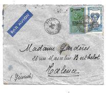 LETTRE  DE BANGUI..OUBANGUI ...TIMBRES AFRIQUE EQUATORIALES FRANCAISE 1936..N° 24  PAS COURANT.   N°119. BE SCAN - Briefe U. Dokumente