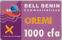 PREPAID PHONE CARD BENIN (E4.6.7 - Benin