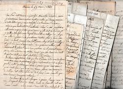 1820/30 - MACON (71) - 19 Lettres D'une Mère (Maman Morin) à Son Fils Edouard Pendant 10 Ans - Documents Historiques