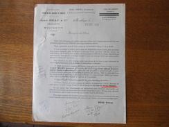 MONTBOYER CHARENTE REAU FRERES NEGOCIANTS SPECIALITE D'EAUX DE VIE RASSISES ET VIEILLES COURRIER DU 29 DEC 1943 - France