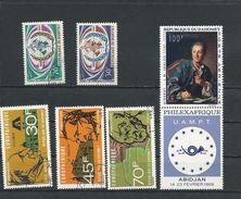 DAHOMEY Scott 250-251, C74-C76, C93 Yvert  275-276, PA78-PA80, PA97 (6) * Et O Cote 7,00$ 1968 - Bénin – Dahomey (1960-...)