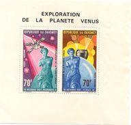 DAHOMEY Scott C68a Yvert  BF12 (bloc) ** Cote 3,50$ 1968 Petit Pli - Bénin – Dahomey (1960-...)