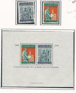 DAHOMEY Scott C69-C70, C70a Yvert  PA73-PA74, BF13** (2+bloc) 0 Et ** Cote 5,20$ 1968 - Bénin – Dahomey (1960-...)