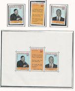DAHOMEY Scott C71-C73, C73a Yvert  PA75-PA77, BF14 (3+bloc) ** Cote 6,50$ 1968 - Bénin – Dahomey (1960-...)